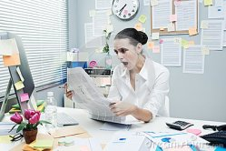 1-bad-news-financial-newspaper-shocked-businesswoman-mouth-open-reading-office-desk-46751936